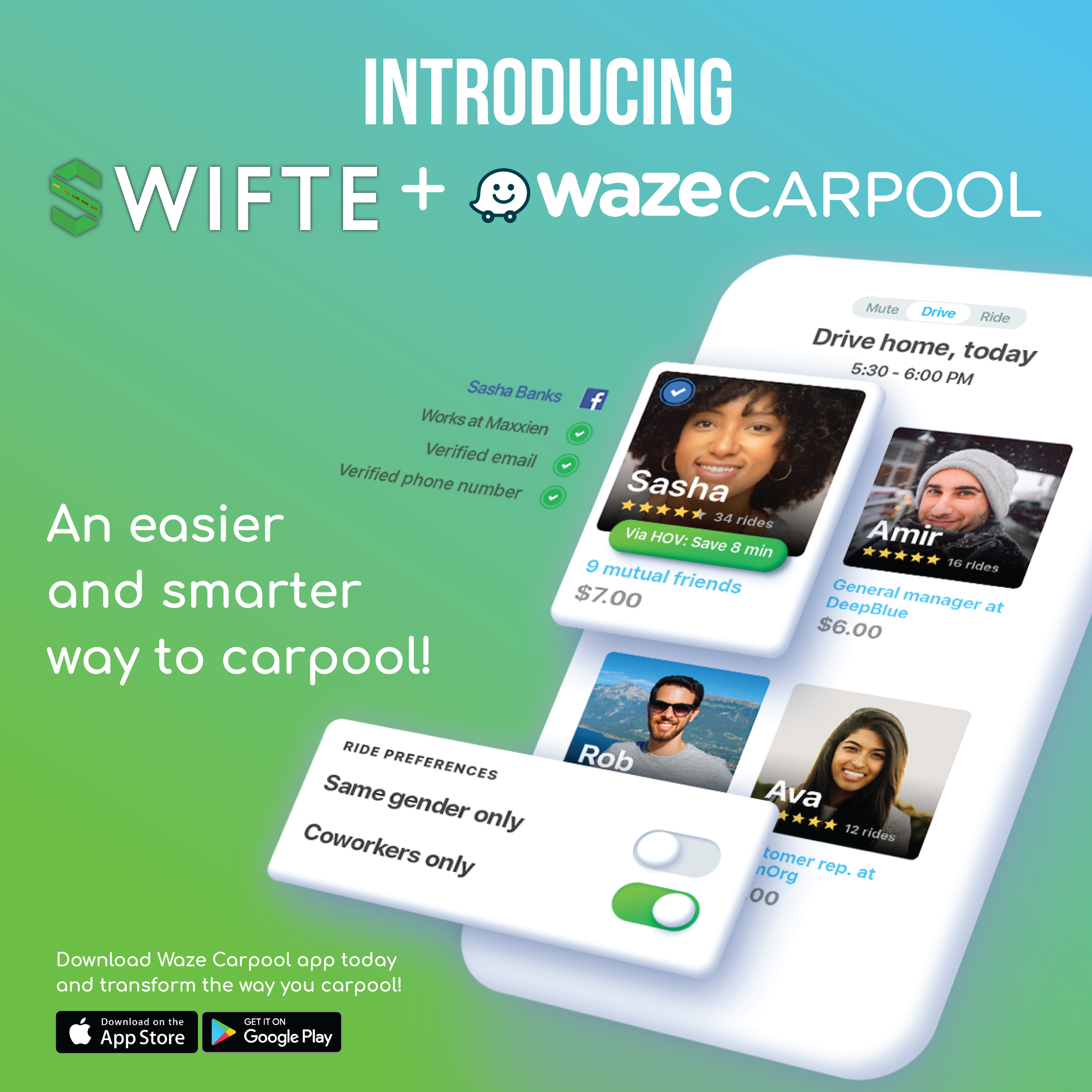 Swifte partners with Waze Carpool to Take Over the California