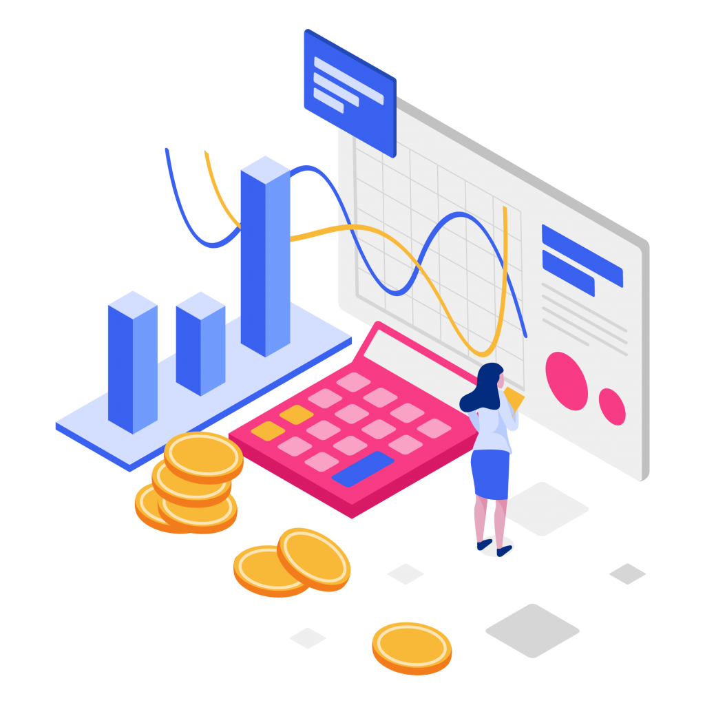 —Pngtree—cost per acquisition isometric illustration 4180683